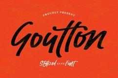 Web Font Goutton - Stylized Sans Font Product Image 1