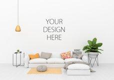 Blank wall mockup - wall art mock up Product Image 1