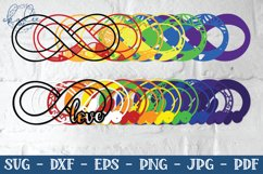 3D Rainbow Infinity Mandala, Autism, Neurodiversity, SVG Product Image 3