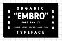 Embro font family Product Image 1