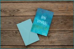 Turquoise Watercolor Background, Sublimation Watercolor Product Image 4