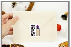 Small Business Sticker Relax Bro She Won This PNG Product Image 2