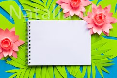 Notepad on palm tree leaves from paper art. Product Image 1