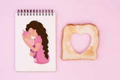 Mom and baby, mom's day clipart, png. eps. Product Image 4