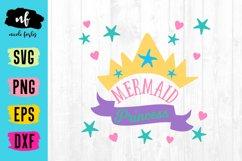 Mermaid Princess SVG Cut File Product Image 1