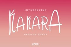 Kakara Display Font Product Image 1
