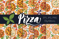PIZZA seamless patter set Product Image 1