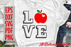 Teacher Svg Teach Love Svg School Svg Love School SVG Love S Product Image 6