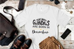 The best grandpas are born in December design Product Image 2