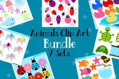 Animals Clipart Graphics Bundle, Illustrations, Clipart Product Image 1