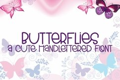 Web Font Butterflies - A Cute Hand-Lettered Font Product Image 1
