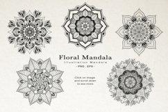 Floral Watercolor & Gold Mandala Product Image 5