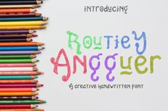 Routiey Angguer - Handwritten Font Product Image 1