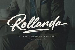 Rollanda - Textured Signature Font Product Image 1