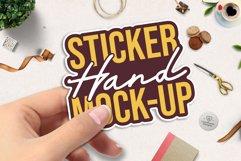 Sticker Mockup | Hand Sticker Mockup PSD | Nail Polish Updat Product Image 2