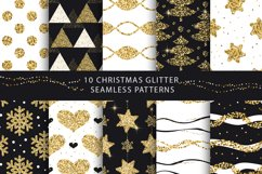 Christmas Glitter Seamless Pattens. Product Image 1