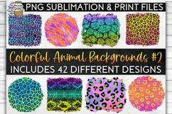 Colorful Animal Print Bundle 42 Sublimation Background PNG Product Image 1