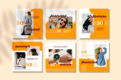 Yellow Fashion Instagram feed template pack Product Image 2