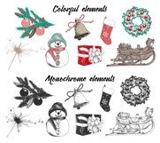 Christmas elements and lettering Product Image 3