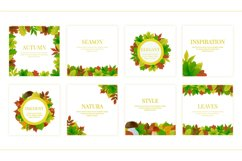 Autumn watercolor style vector collection. Product Image 2