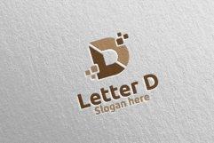 Digital Letter D Logo Design 11 Product Image 4