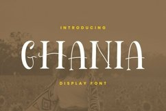 Web Font Ghania Font Product Image 1