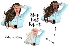 SELF CARE Clipart, Stay Home Fashion Illustration Product Image 5