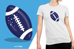 American Football Blue Ball T-Shirt Design | Sublimation Product Image 6
