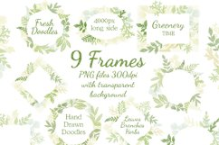 Leaves Branches & Herbs frames. Fresh Doodle collection Product Image 2