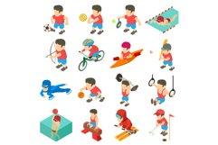 Sport icons set, isometric style Product Image 1