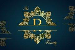Diamond Mandala Monogram Split Font Duo Product Image 2