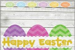 Easter Eggs monogram SVG, Split Easter Eggs, Egg Cut file Product Image 3