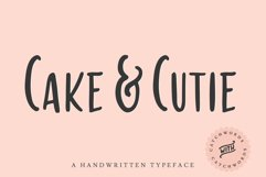 Cake & Cutie   A Handwritten Typeface Product Image 1