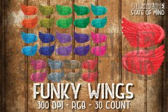 Funky Wings Sublimation Graphics Product Image 1