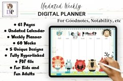 Fun Undated Weekly Digital Planner PDF CLICKABLE links v4 Product Image 1