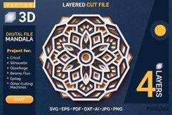 Mandala 3D Layered SVG Cut File - Laser Cutting Product Image 1
