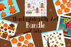 Thanksgiving Clipart Graphics Bundle, Illustrations, Clipart Product Image 1