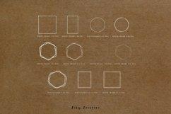 20 White Geometric Frames | Logo | Invitation | Christmas Product Image 3