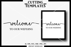 Welcome to our Wedding SVG, Wedding, Silhouette, Cricut, DXF Product Image 1