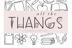 All The Thangs - A Handmade Letter & Doodle Font - Teaching Product Image 1