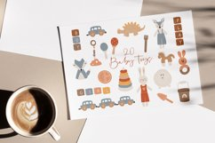Boho Baby Toys Clipart, 20 Abstract Baby Elements Product Image 1