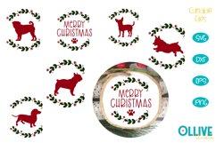 Dog Christmas Round Ornament Bundle SVG Product Image 1