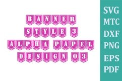 Banner #01 Papel Design #03 Style 03 Alphabet A to Z 0 to 9 Product Image 1