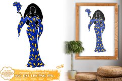 Black Woman SVG, Afro Woman SVG, Africa PNG, Ankara SVG Product Image 2