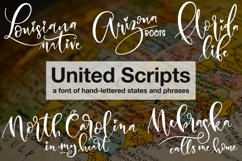 United Scripts - a font of states! Product Image 1