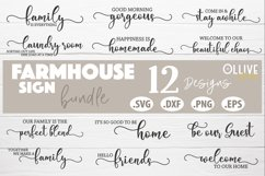Farmhouse Sign Making Bundle SVG | Farmhouse 12 Designs Product Image 1