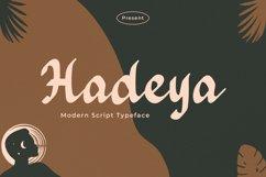 Hadeya - Modern Script Typeface Product Image 1