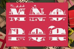 Christmas Monogram Alphabet   Christmas Split Letters Product Image 5