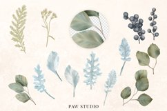 White Pink Flowers Winter Leaves Wedding Bride Clipart Product Image 3
