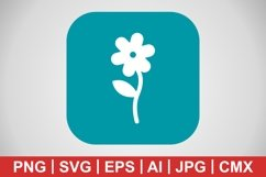 Vector Flower Icon Product Image 1